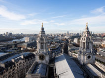 Mening van Londen van St Pauls kathedraal Stock Afbeelding