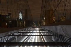 Mening van Lower Manhattan na stroomuitval. Stock Afbeelding