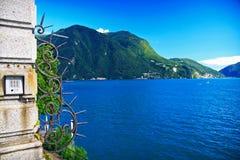 Mening van Lugano meer royalty-vrije stock foto