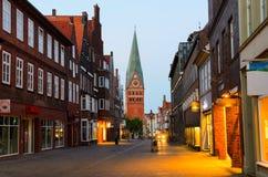Mening van Luneburg, Duitsland Stock Afbeeldingen
