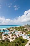 Mening van luxe tropische toevlucht Stock Foto