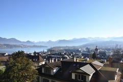 Mening van Luzern Royalty-vrije Stock Foto