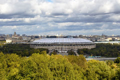 Mening van Luzhniki-Stadion royalty-vrije stock afbeeldingen