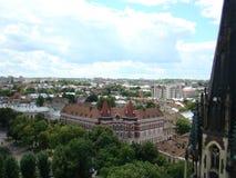 Mening van Lviv-stad van een hoogte Stock Fotografie