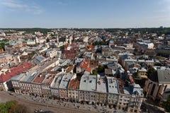 Mening van Lviv, Ukarine. Royalty-vrije Stock Afbeelding