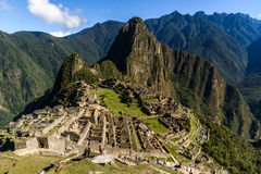 Mening van Machu Picchu Royalty-vrije Stock Foto's