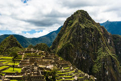 Mening van Machu Picchu Royalty-vrije Stock Afbeelding