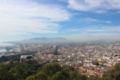 Mening van Malaga, Spanje Royalty-vrije Stock Foto's