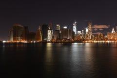 Mening van Manhattan van de binnenstad na Zandige Orkaan Stock Afbeelding
