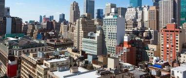Mening van Manhattan van het gebouw van de imperiumstaat Royalty-vrije Stock Afbeelding