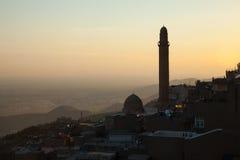 Mening van mardin, Turkije Stock Fotografie