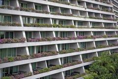 Mening van Marina Bay Sands Hotel van Libelbrug royalty-vrije stock foto's
