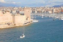 Mening van Marseille, Frankrijk stock fotografie