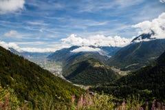 Mening van Martigny, Zwitserland royalty-vrije stock fotografie