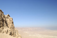 Mening van Masada Stock Afbeelding