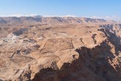 Mening van Masada Royalty-vrije Stock Foto's