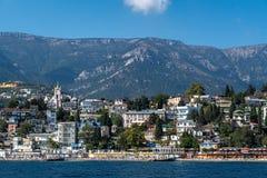 Mening van Massandra-Strand in Yalta Stock Afbeeldingen