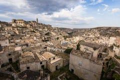 Mening van Matera, Balsilicata, Italië Stock Foto
