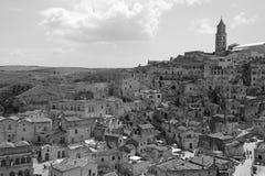Mening van Matera, Italië Royalty-vrije Stock Fotografie