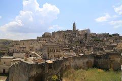 Mening van Matera, Italië Stock Foto