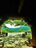 Mening van Mather Lodge in Petit Jean State Park royalty-vrije stock foto's