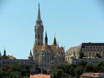 Mening van Matthias Church in Boedapest Royalty-vrije Stock Fotografie