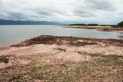 Mening van Meer Kariba van Spurwing-Eiland Stock Foto's