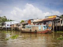 Mening van Mekong rivier Royalty-vrije Stock Fotografie
