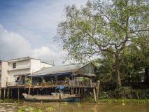 Mening van Mekong rivier Stock Foto's