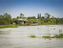 Mening van Mekong rivier Royalty-vrije Stock Foto
