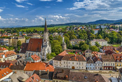 Mening van Melk, Oostenrijk stock foto's