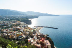 Mening van Meta op de Amalfi Kust royalty-vrije stock foto