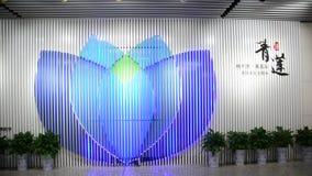 Mening van metropost in Tchang-cha, China stock video