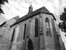 Mening van middeleeuwse cchurch Royalty-vrije Stock Foto's