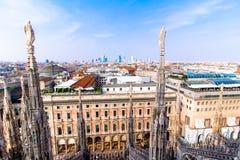 Mening van Milaan van Duomo Royalty-vrije Stock Afbeeldingen