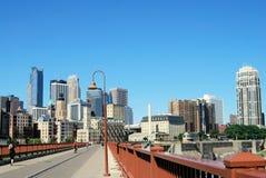 Mening van Minneapolis Royalty-vrije Stock Foto