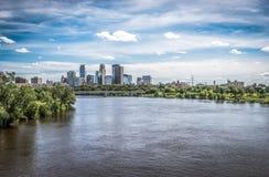 Mening van Minneapolis van de binnenstad Royalty-vrije Stock Foto