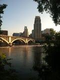 Mening van Minneapolis van de binnenstad Royalty-vrije Stock Foto's