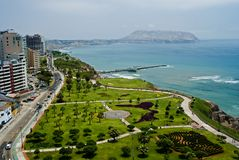 Mening van Miraflores Park, Lima - Peru Stock Afbeeldingen