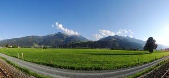 Mening van Mittersill op Hohe Tauern, Oostenrijk Stock Foto's