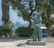 Mening van modern Tel Aviv Stock Foto's