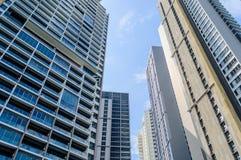 Mening van Moderne Buidings in Bangkok royalty-vrije stock foto's