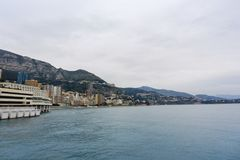 Mening van Monaco royalty-vrije stock foto