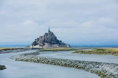 Mening van Mont Saint Michel, Normandië Frankrijk stock afbeelding