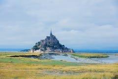 Mening van Mont Saint Michel, Normandië Frankrijk stock foto's