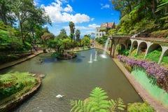 Mening van Monte Palace Tropical Garden Het eiland van Funchal, Madera, Portugal Royalty-vrije Stock Foto's