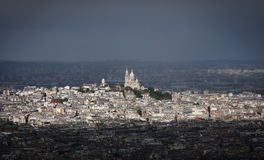Mening van Montmartre in Parijs stock foto