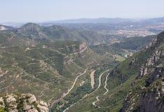 Mening van Montserrat Mountain Stock Fotografie