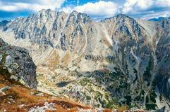 Mening van mooie bergen van Solisko in Hoge Tatras, Slowakije Royalty-vrije Stock Afbeeldingen