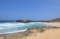 Mening van Moro op Boca Keto in Aruba royalty-vrije stock foto's